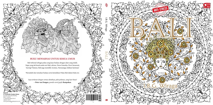 front and back cover for my coloring book bali will be availabe everywhere in indonesia 13th of august even earlier for bookstores around jakarta and
